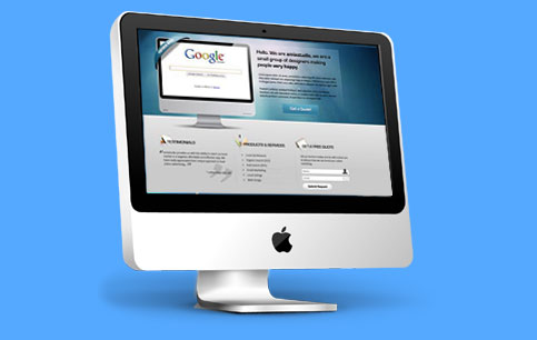 Mac computer with a professional website designed by Digital Insights